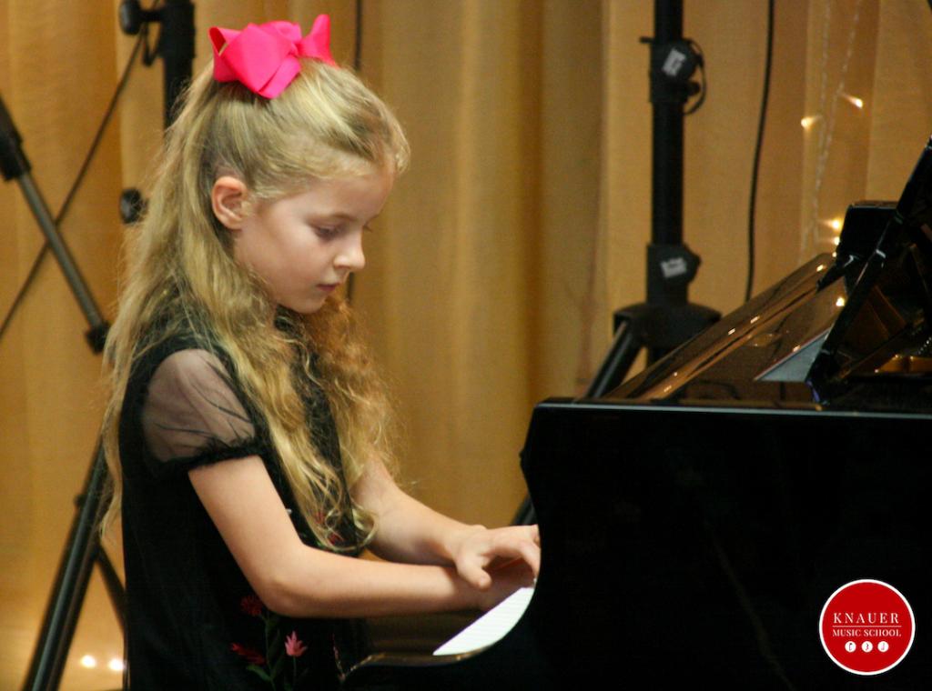 Piano student Knauer Music School